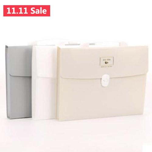 A4 Multi layer Document File Folder Bags with Handle; Expandable File Folders with Divider; File folder storage folder