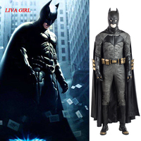 Batman Cosplay Costume Bruce Wayne Cape The Dark Knight Rises Cosplay Clothing Superhero Outfit Full Set