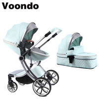 Voondo baby stroller roller can sit and fold fold light high landscape two way shock absorber four wheels