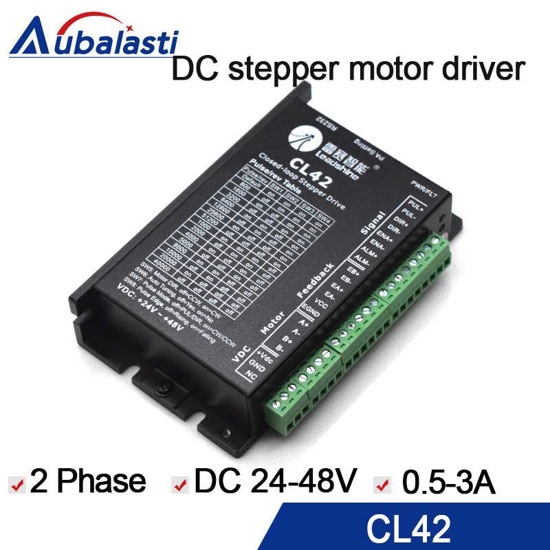 2 phase stepper motor driver leadshin CL42 42CME nema 17 CL serial close loop VDC24-50V 0.5-3A use for cnc engraver machine2 phase stepper motor driver leadshin CL42 42CME nema 17 CL serial close loop VDC24-50V 0.5-3A use for cnc engraver machine