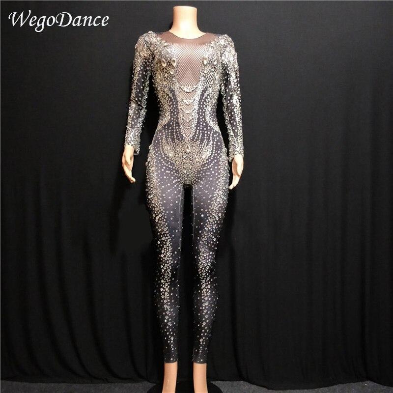 Новый Для женщин красный Dj Gogo комбинезон 3D печатных белый большая точка Боди женские пикантные сценическая танцевальная одежда для праздно