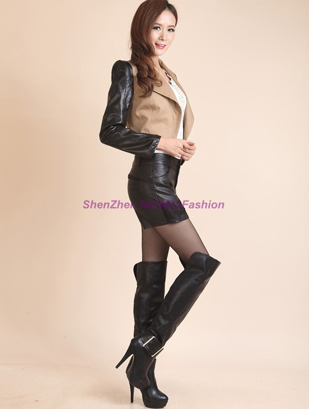 Hot Leather Skirt - Dress Ala