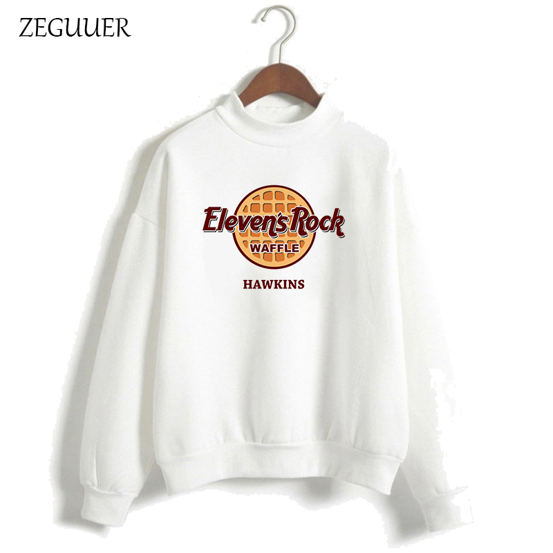 ZEGUUER Stranger Things Eleven Is Rock Hoodies Women Harajuku Pink Cartoon Sweatshirt Streetwear Fashion Hipster Clothes