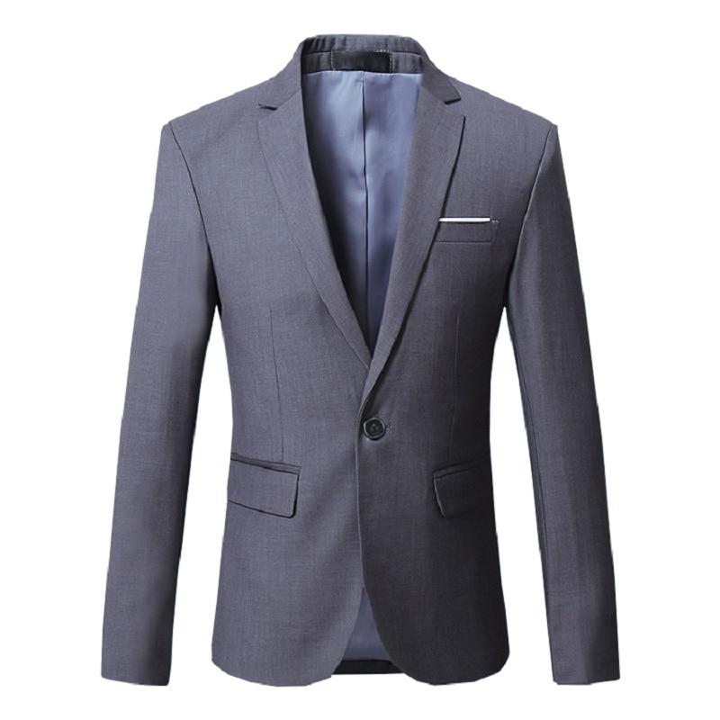 Men blazer suit jacket dress Male Classical Casual Slim Fit High quality office party suit jacket 1