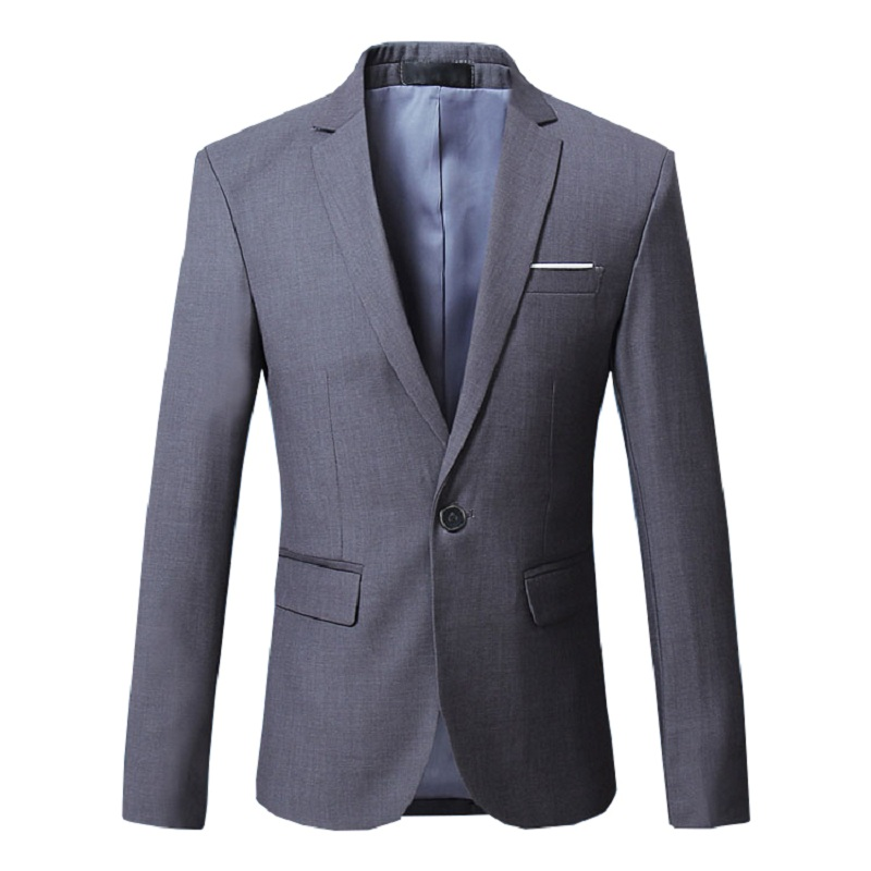Men Blazer Suit Jacket Dress Male Classical Casual Slim Fit High Quality Office Party Suit Jacket
