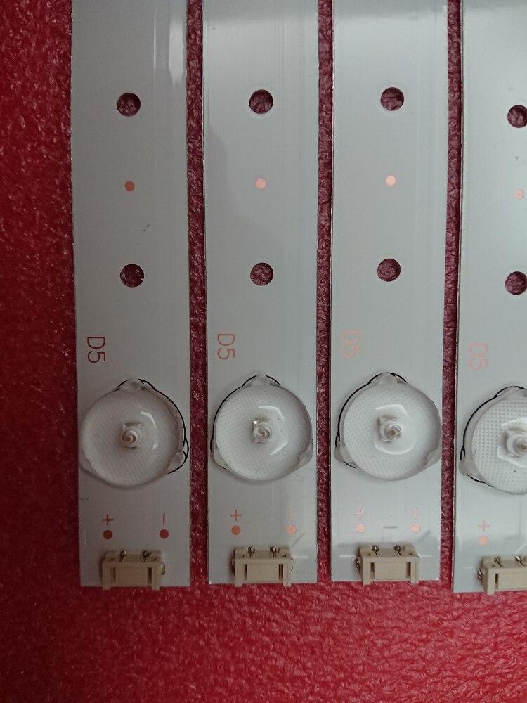 New 5set 40pcs 5LED 405mm LED strip For TQL43F4PR001 43E3000 5800 W43001 3P00 E465853 02K03177A RDL430WY