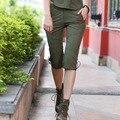2016 Verão Calças Mulheres Comprimento Médio Exército Estilo Militar Projeto Material de Algodão Respirável Cool Fashion Outfits Z20 GK-9530A