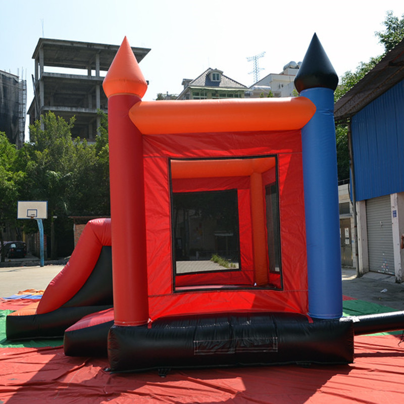 Colorful Inflatable Toys Castle For Children to play in the garden or school