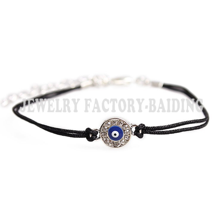 Fashion Handmade Blue Evil Eye Charms Crystal Bracelets Red Black Manual Adjule The Turks In Chain Link From Jewelry