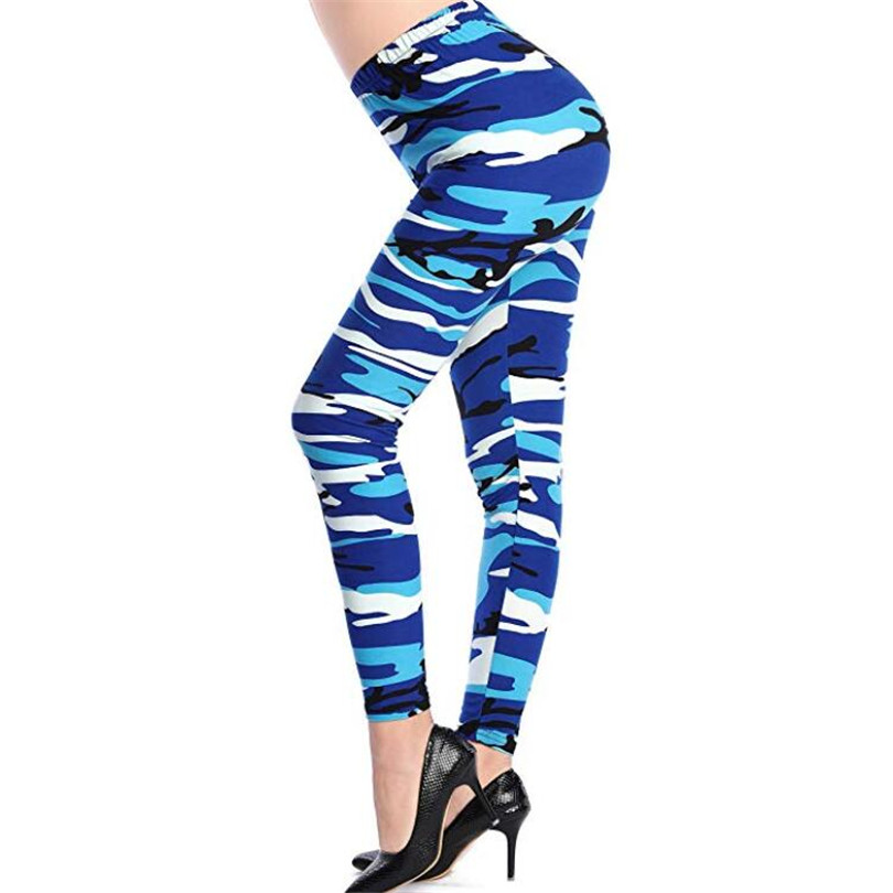 VISNXGI New Fashion 2020 Camouflage Printing Elasticity Leggings Camouflage Fitness Pant Legins Casual Milk Legging For Women 4