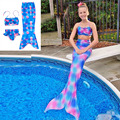Children Mermaid Tails For Swimming Kids Mermaid-Tail Cosplay Custume Princess Ariel Mrmaid Kids Costumes Swimmable Mermaid Tail