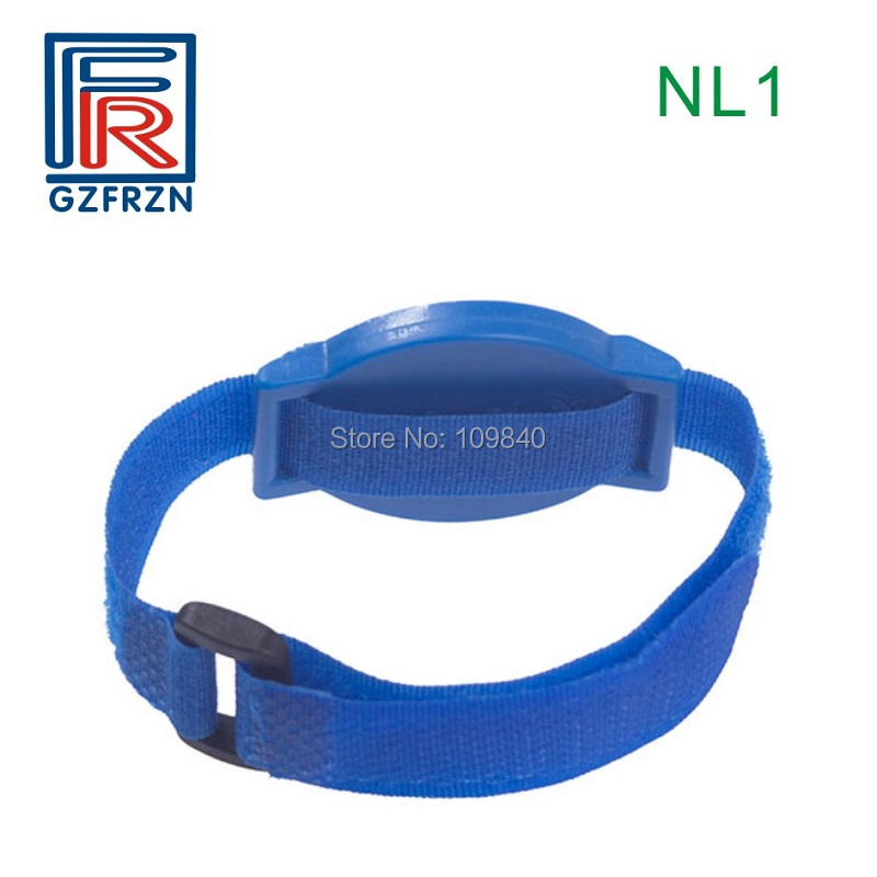 100pcs/lot UHF nylon wristband with Alien H3 chip ISO18000-6C proximity RFID bracelet for access control survival nylon bracelet brown