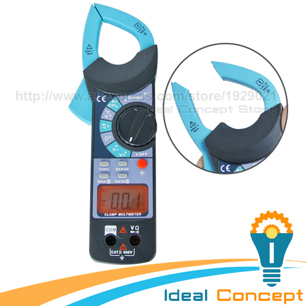 Clamp Meter DC AC Voltage AC Current Resistance Digital Multimeter Audible Continuity Temperature Diode Tester digital clamp meter multimeter dc ac voltage current resistance diode continuity tester 33mm jaw opening