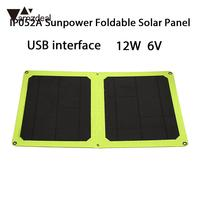 Solar Generator Foldable Phone Charger Durable Solar Charger Panel Climbing 12W 6V Solar Panel Monocrystalline Silicon
