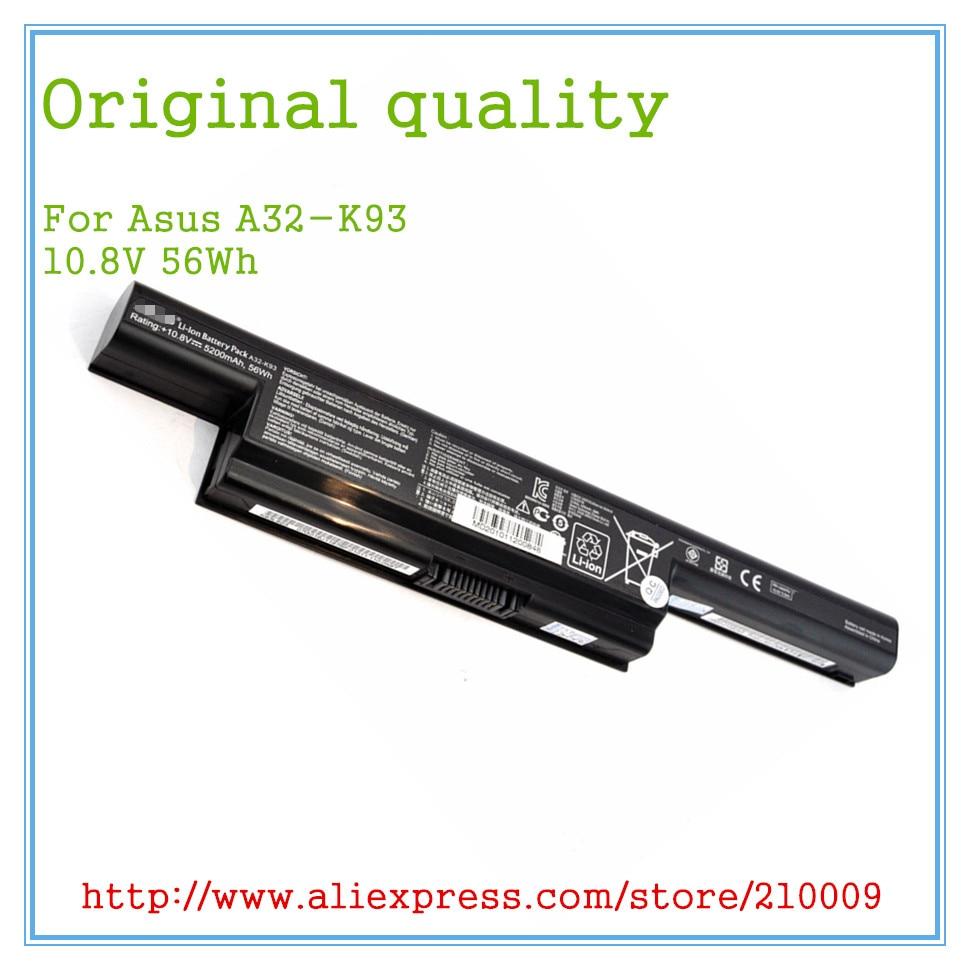 10.8V 56Wh Original New Laptop Battery A32-K93 For K93 K93S K93SV A93 A95 A32-K93 A41-K93 A42-K93 6CELL 43w4342 44e8763 battery for mr10i mr10is original 95