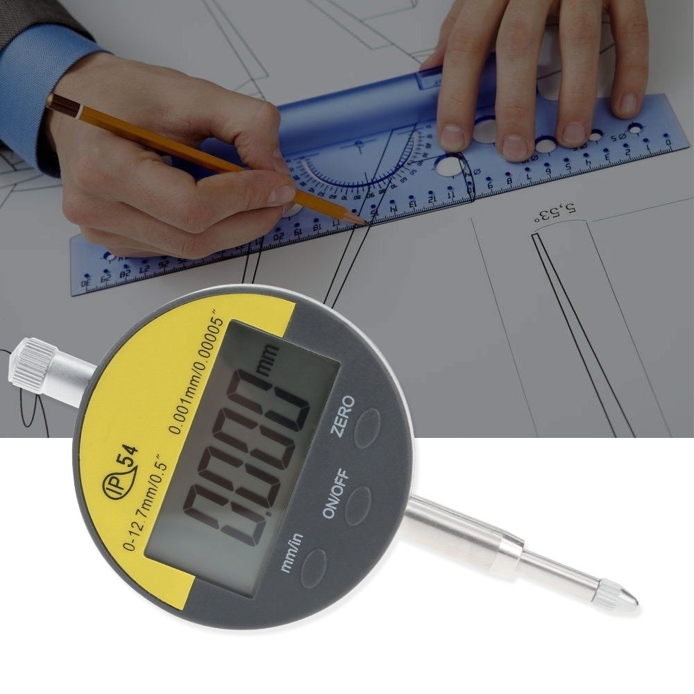 Digital Dial Indicator 0 - 12.7 mm Dial Test Indicator 0.001mm dial gauge indicator Length Measuring Instrument guanglu dial indicator 0 0 8mm 0 01mm dial test indicator dial test gauge measurement instrument measure tools