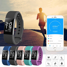 Bluetooth 4.0 OLED F2HR Sports Waterproof Sleep Monitoring Smart Band Watch