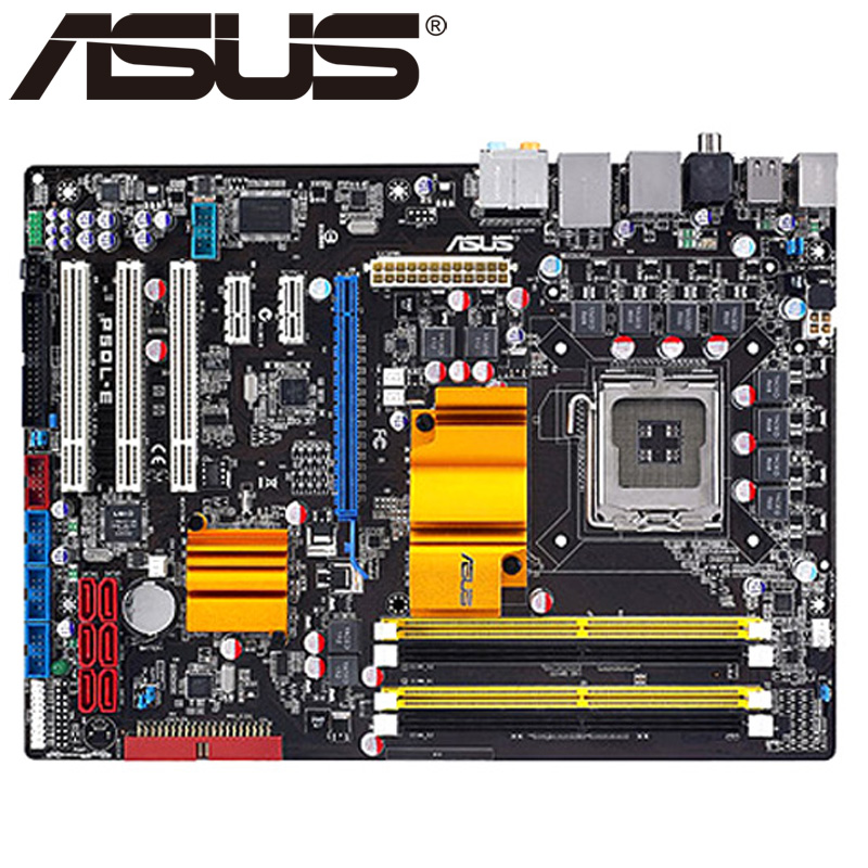 Asus P5QL-E Desktop Motherboard P43 Socket LGA 775 Q8200 Q8300 DDR2 16G ATX UEFI BIOS Original Used Mainboard On Sale asus p8h61 m le desktop motherboard h61 socket lga 1155 i3 i5 i7 ddr3 16g uatx uefi bios original used mainboard on sale