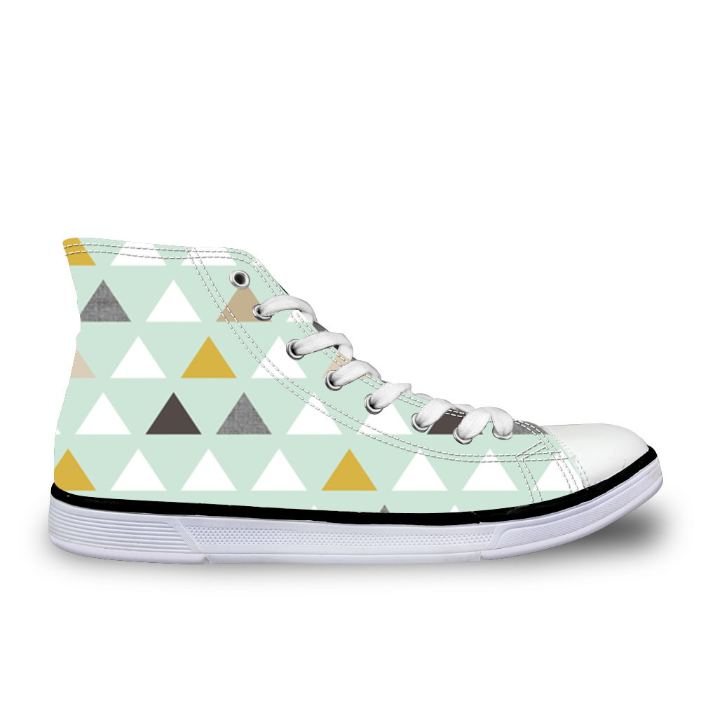 Mod Mint Triangles Women Vulcanize Shoes Spring Girls Female Casual High top Canvas Shoes Walking Shoes EspadrillesMod Mint Triangles Women Vulcanize Shoes Spring Girls Female Casual High top Canvas Shoes Walking Shoes Espadrilles