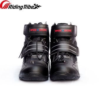 Riding Tribe Motorcycle Men Women Ankle Boots Motorbike Riding Protective Non-slip Breathable Off-Road Moto Racing Shoes A005