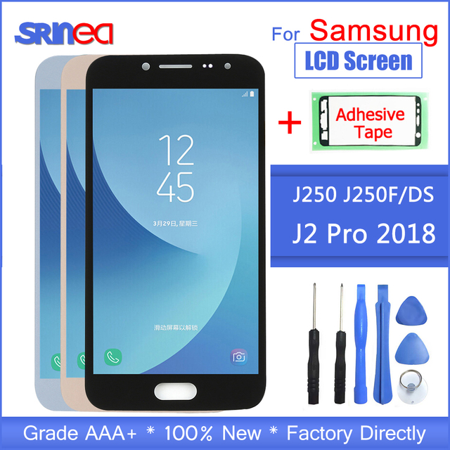 LCD Display For Samsung Galaxy J2 Pro 2018 J250 SM J250 Touch Screen Digitizer Assembly For Samsung j2Pro J250F Adhesive + Tools