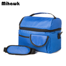 Mihawk 2 Layers Insulated Cooler Bag Thermal Lunch Box Picnic Food Storage Tote Bag Wholesale Bulk Lot Accessory Supply Product