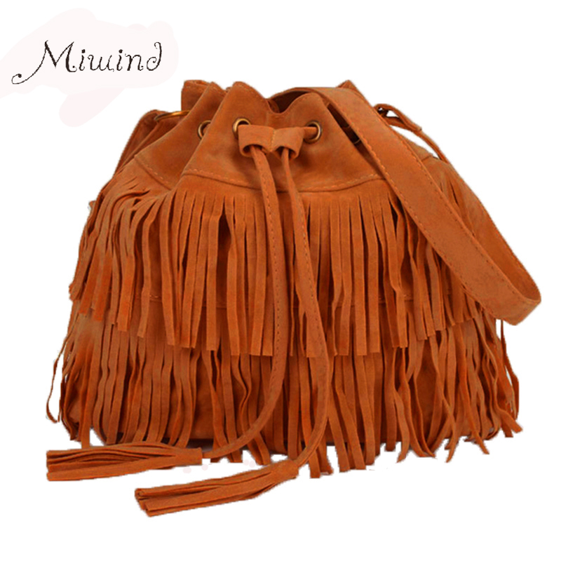 Women Bag Handbags Tote Over Shoulder Crossbody Sling Summer Tassel Purses Suede