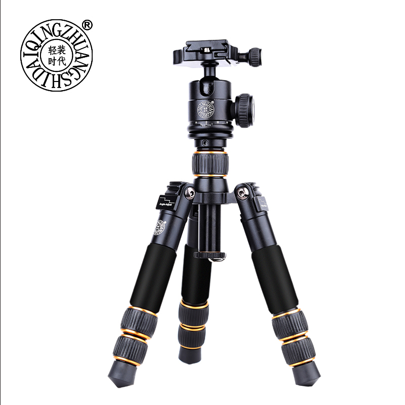 QZSD Q166A Mini Table Camera Tripod Protable Travel Stand Holder for Photography with Clip for Cell