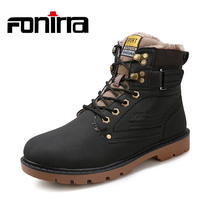 FONIRRA Top Quality Winter Warm Men Boots Fur BIG Size 39 46 Comfortable Working Safety Snow