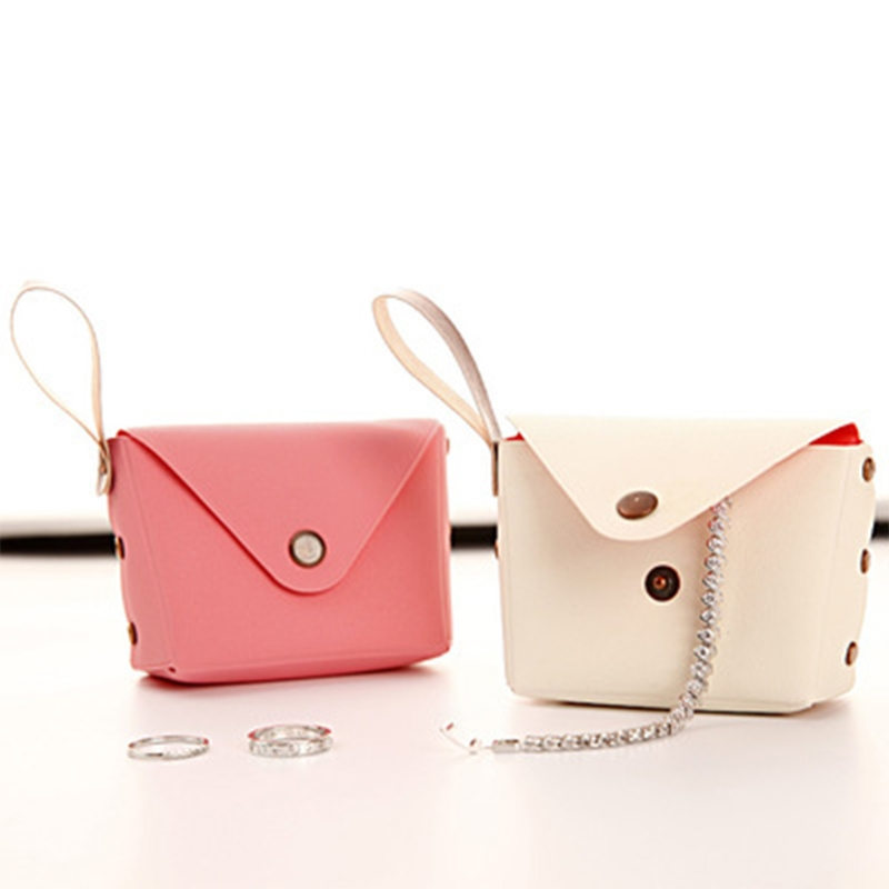 THINKTHENDO Candy Color Women Coin Purse Wristlet Lady Wallet Girls Change Pocket Keys Case