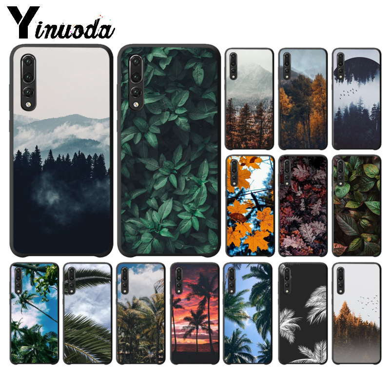 Yinuoda Palm tree leaf mountain white smoke Phone Case for Huawei P10 plus 20 pro P20 lite mate9 10 lite honor 10 view10 cover image