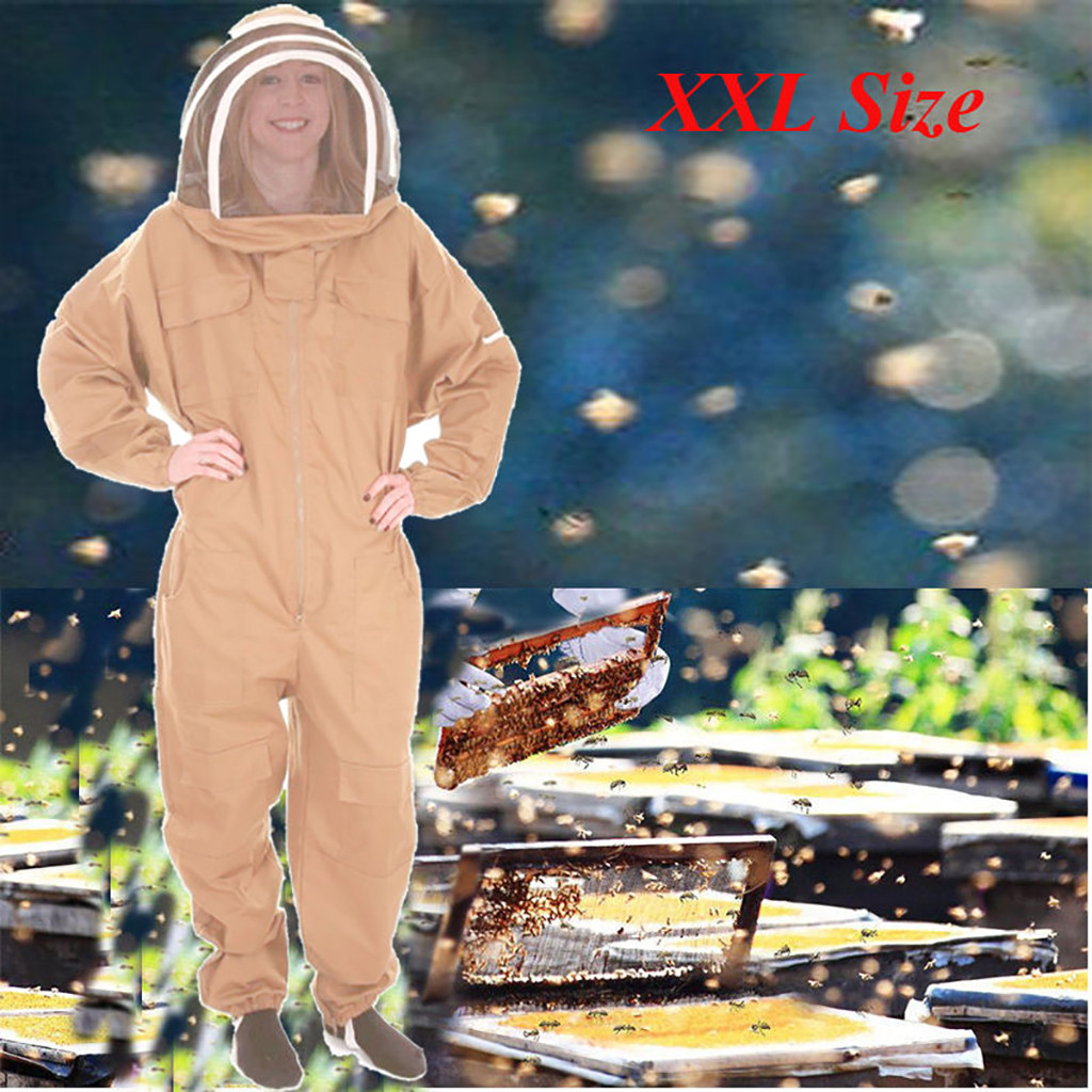 beekeeping supplies Breathable Half Body Anti Bee Clothes with Cap Beekeeping Protective Suit ToolEquipconvenient  product-in Protective Clothing from Home & Garden
