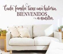 Spanish welcome vinyl wall applique BIENVENIDOS living room bedroom home decor sticker mural XBY05