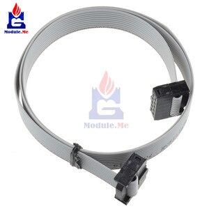 70 CM 10 Pin USB ASP FAI JTAG AVR 10 P IDC Ribbon Flat DATA Cable 2.54mm