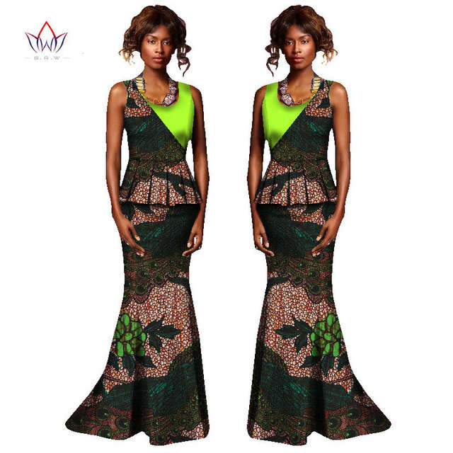 African Dresses for Women Fashions Designs Plus Size Two Piece Set Women  Sleeveless Traditional African Kanga 1ccb692fffa7