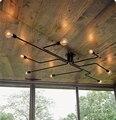 4,6, 8 Cabeças de Ferro Forjado Do Vintage Vários Haste Cúpula Luzes de Teto luminária Criativa Nostalgia Retro cafe Bar Teto Do Quarto lâmpada