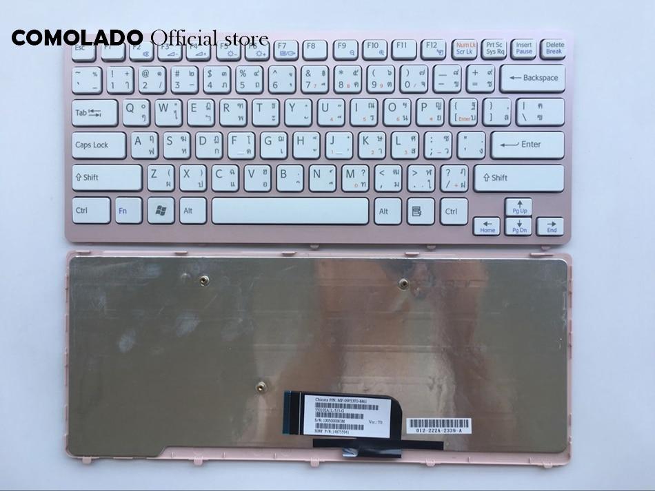 TI thaïlande clavier pour Sony Vaio VPC-CW VPC CW VPCCW CW16EC CW18FC cadre rose clavier d'ordinateur portable disposition TI