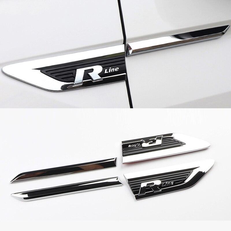 Logotipo adesivos de carro para Volkswagen Tiguan Rline MK2 adesivos de carro acessórios Do Carro Fender 2017-2018 porta Do Carro adesivo