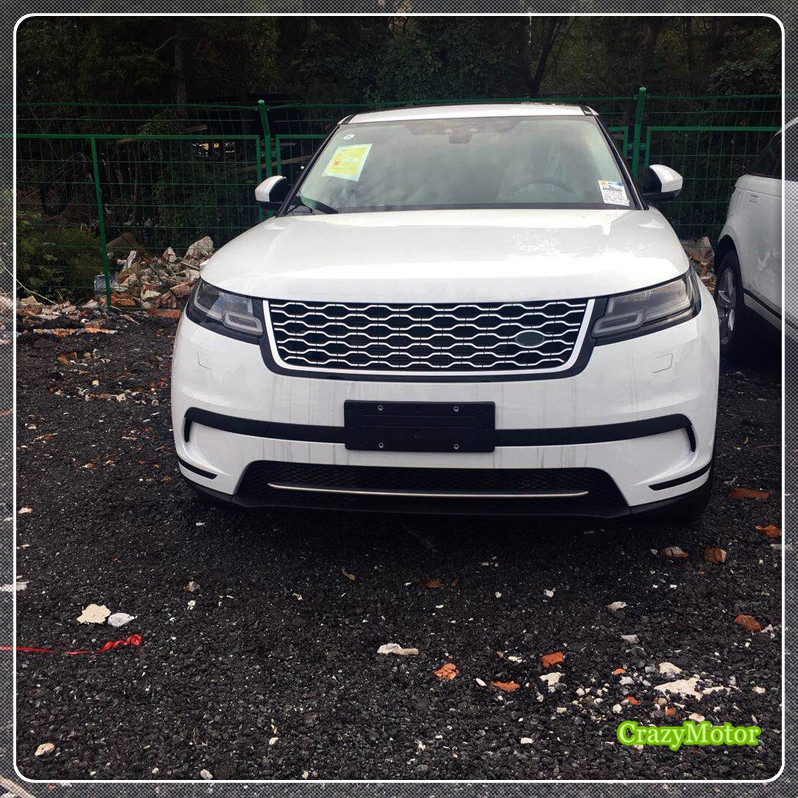 For Low Equipped! For Land Rover Range Rover Velar 2017 2018 Exterior Steel Matte Front Grill Trim Grill Sticker Cover 1* коврики в салон land rover range rover evoque 2011