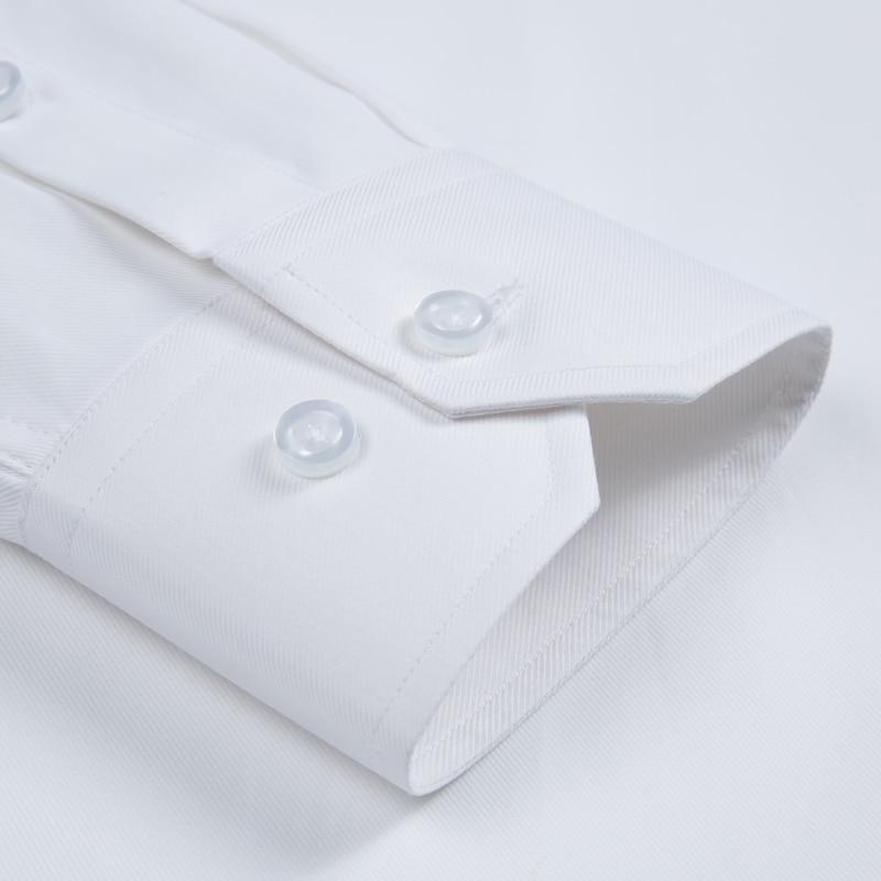 Image 3 - Mens Long Sleeve Standard fit Solid Basic Dress Shirt Patch Single Pocket High quality Formal Social White Work Office Shirtsdress shirtbusiness shirtshirt business -