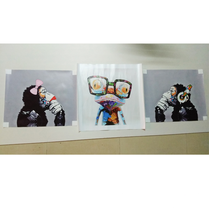 Dekorasi rumah simulasi lukisan minyak di atas kanvas, Print Animai - Dekorasi rumah - Foto 6