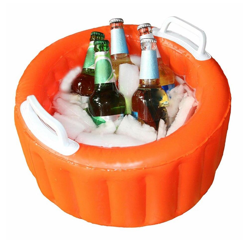 Inflatable Beer Ice Bucket Beer Cooler Bucket Summer Pool Party Swimming Pool Floating Outdoor Inflatable Bucket