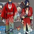 DMMD DRAMAtical Murder Koujaku Cosplay Costume Japanese Kimono Samurai Clothing Full Set