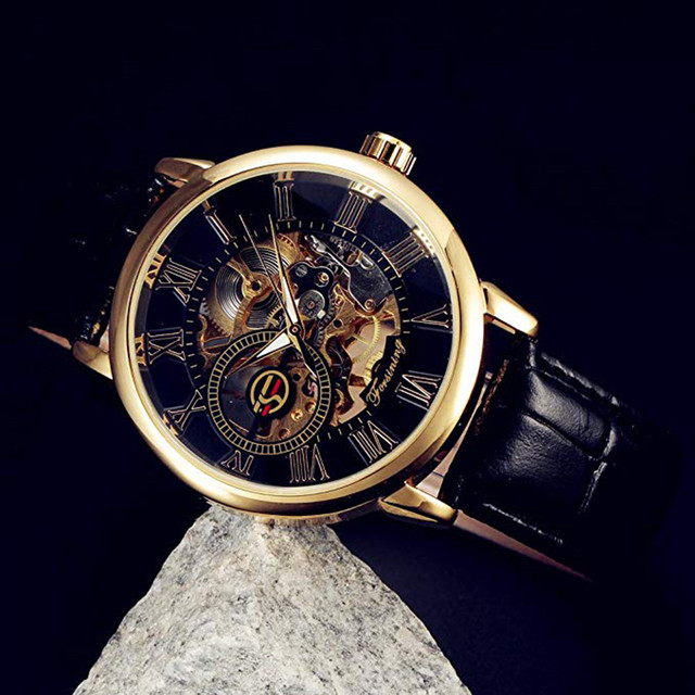 Luxury Mechanical 3D Hollow Skeleton Dial Sport Watches 2
