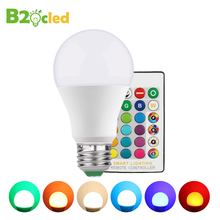 цена на E27 GU10 RGB Bulb Lamp AC85-265V 5W RGBW RGBWW CRI80+ LED Spot Light Dimmable Magic RGB Bulb with IR Remote Control 16 Colors