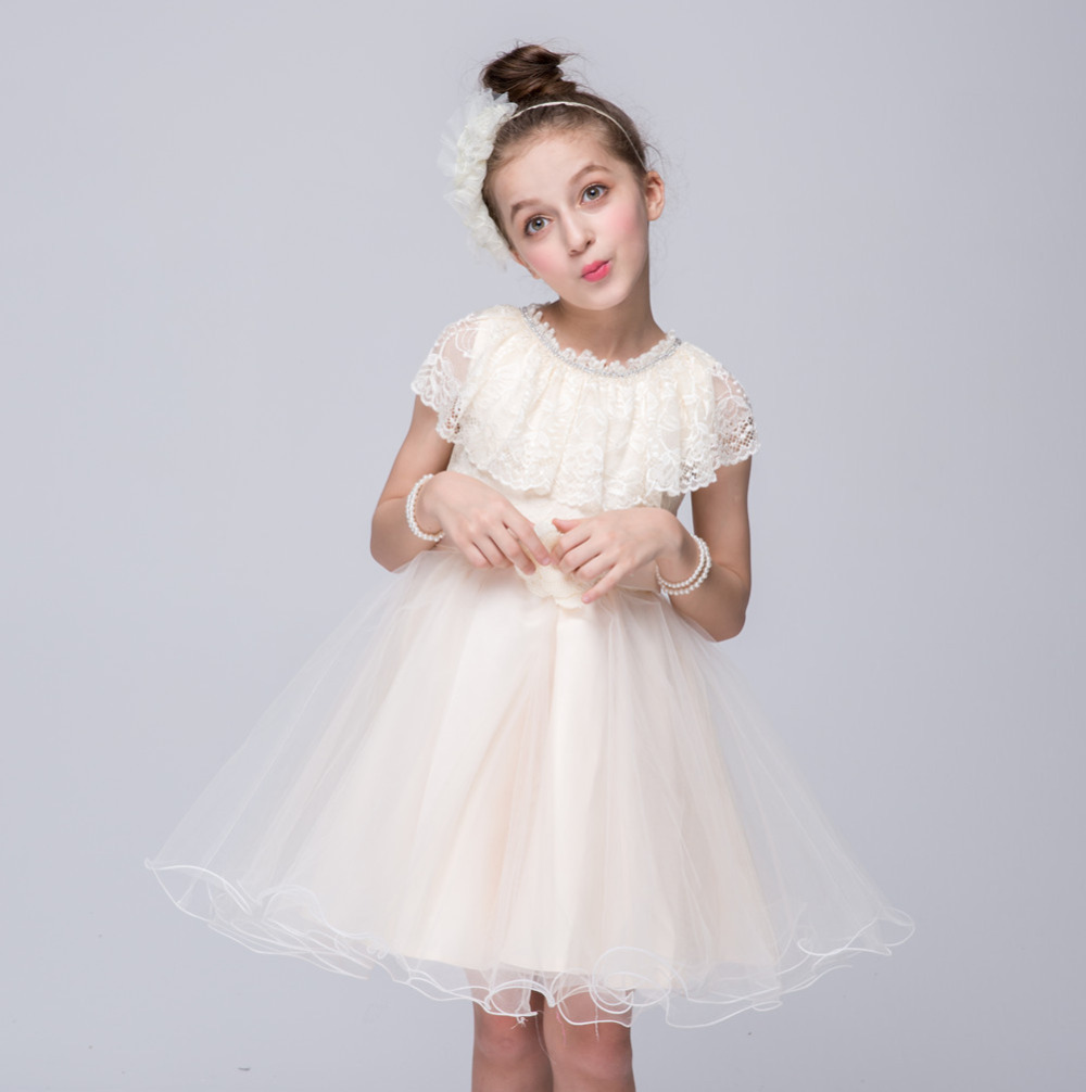Summer Girls Costumes Lace Dresses for Party Wedding Flowers Kids frocks designs Ball Gowns Dress vestidos 2 4 6 8 10 12 Years купить