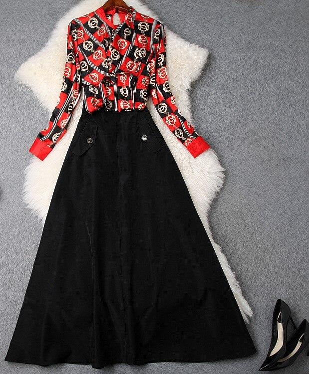 Модные женские комплекты 2019 взлетно-посадочной полосы Элитный бренд Европейский дизайн вечерние Стиль Женская Костюмы WS02452