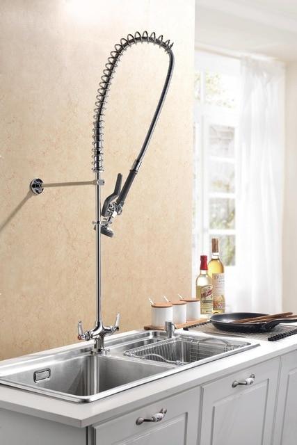 Commercial, Deck Mount, Kitchen Sink Faucet, Pre Rinse Arm, Spray ...