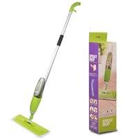 Multifunction Spray Water Spray Mop ABS Aluminum Hand Wash Plate Mop Green Home Wood Floor Tile