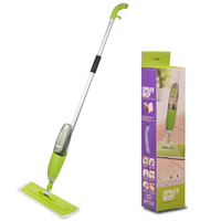Multifunction Spray Water Spray Mop ABS+Aluminum Hand Wash Plate Mop Green Home Wood Floor Tile Kitchen Cleaning Tool